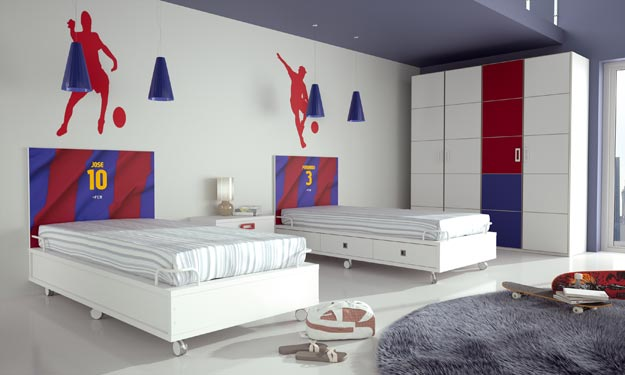 Dormitorios futbol club barcelona fcb by dormitorios - Habitacion juvenil barcelona ...