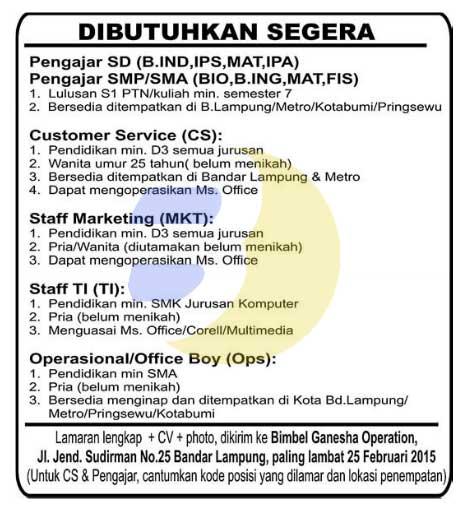 Lowongan Kerja Cpns Lampung Bursa Lowongan Kerja Informasi Terbaru Loker Sources Of Lowongan Kerja Lampung Jun 2016 Nfl Wallpapers