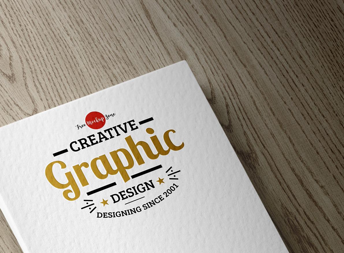 Textured Logo PSD Mockup