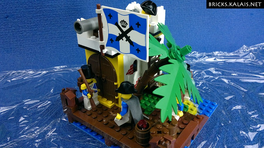 2. Outpost is build on the classic baseplate from set 6265 - Sabre Island
