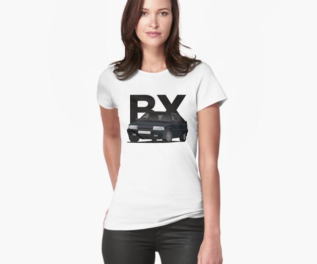 Black cornering Citroen BX 19 GTi t-shirts