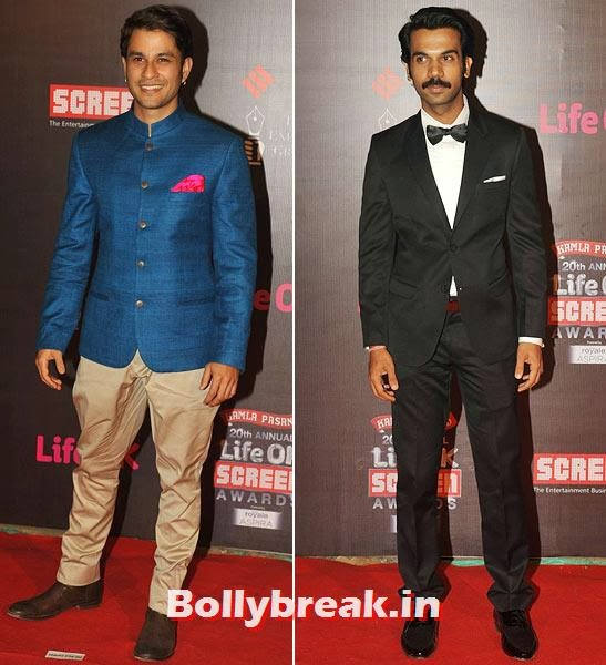 Kunal Khemmu and Rajkummar Rao, Life Ok Screen Awards 2014 Red Carpet Photos