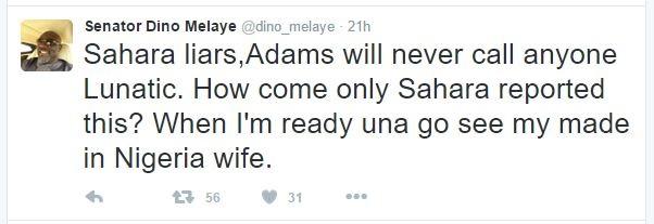 Senator Dino Melaye Reacts to Gov. Oshiomole's Reply, Blasts SaharaReporters