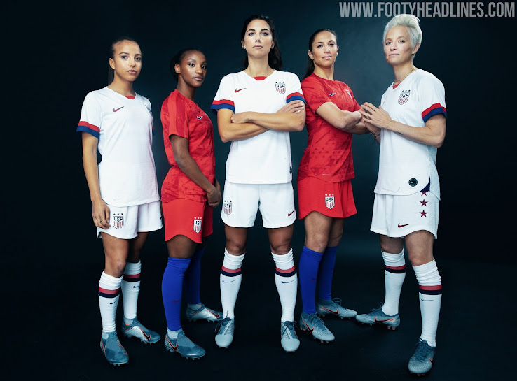 bc6b3df2a ... unique stars and stripes graphic design on the front. The Nike USA 2019  FIFA Women s World Cup home jersey is white with a back panel of the names  of ...
