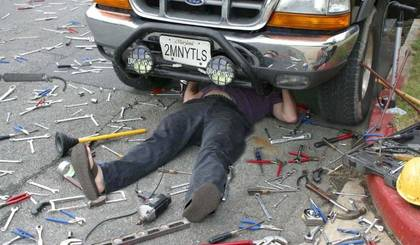 Mechanic in a mess