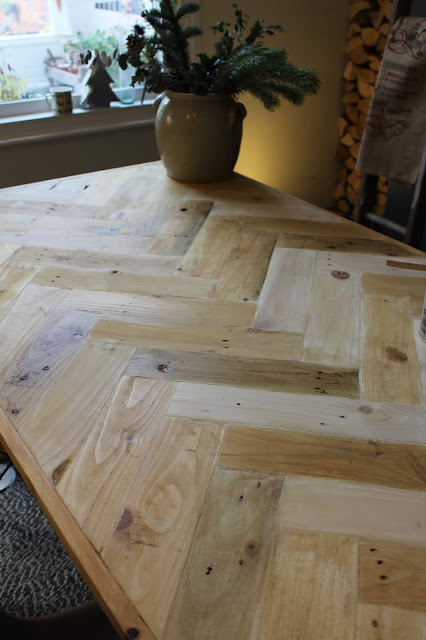 Multi-coloured Rustic Table Top with Different Waxes
