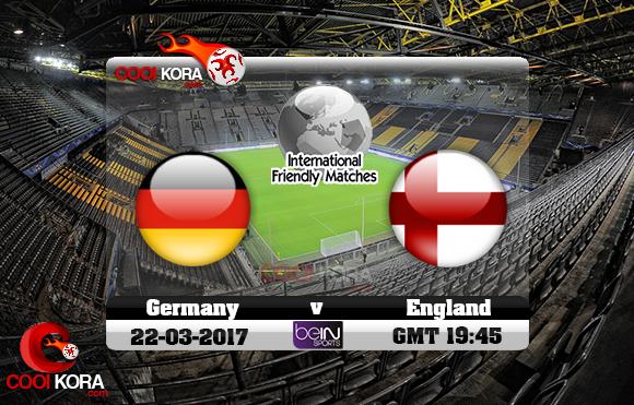 مشاهدة مباراة ألمانيا وإنجلترا اليوم 22-3-2017 مباراة ودية
