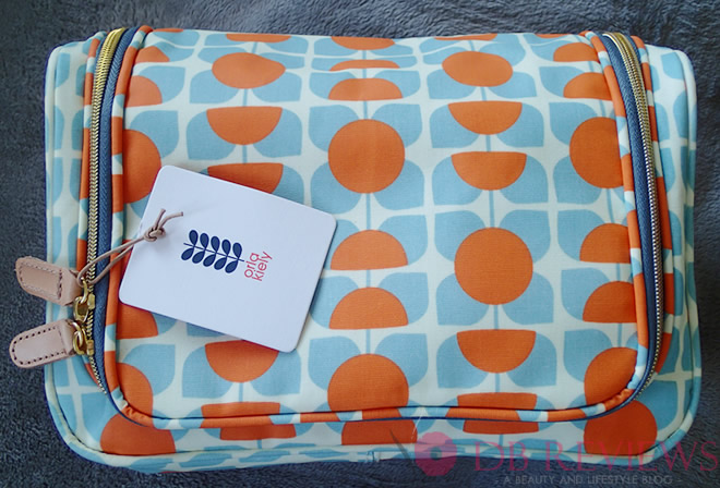 Orla Kiely square flower print large wash bag