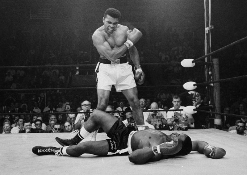 Muhammad Ali vs. Sonny Liston II, photo by John Rooney / The Associated Press.