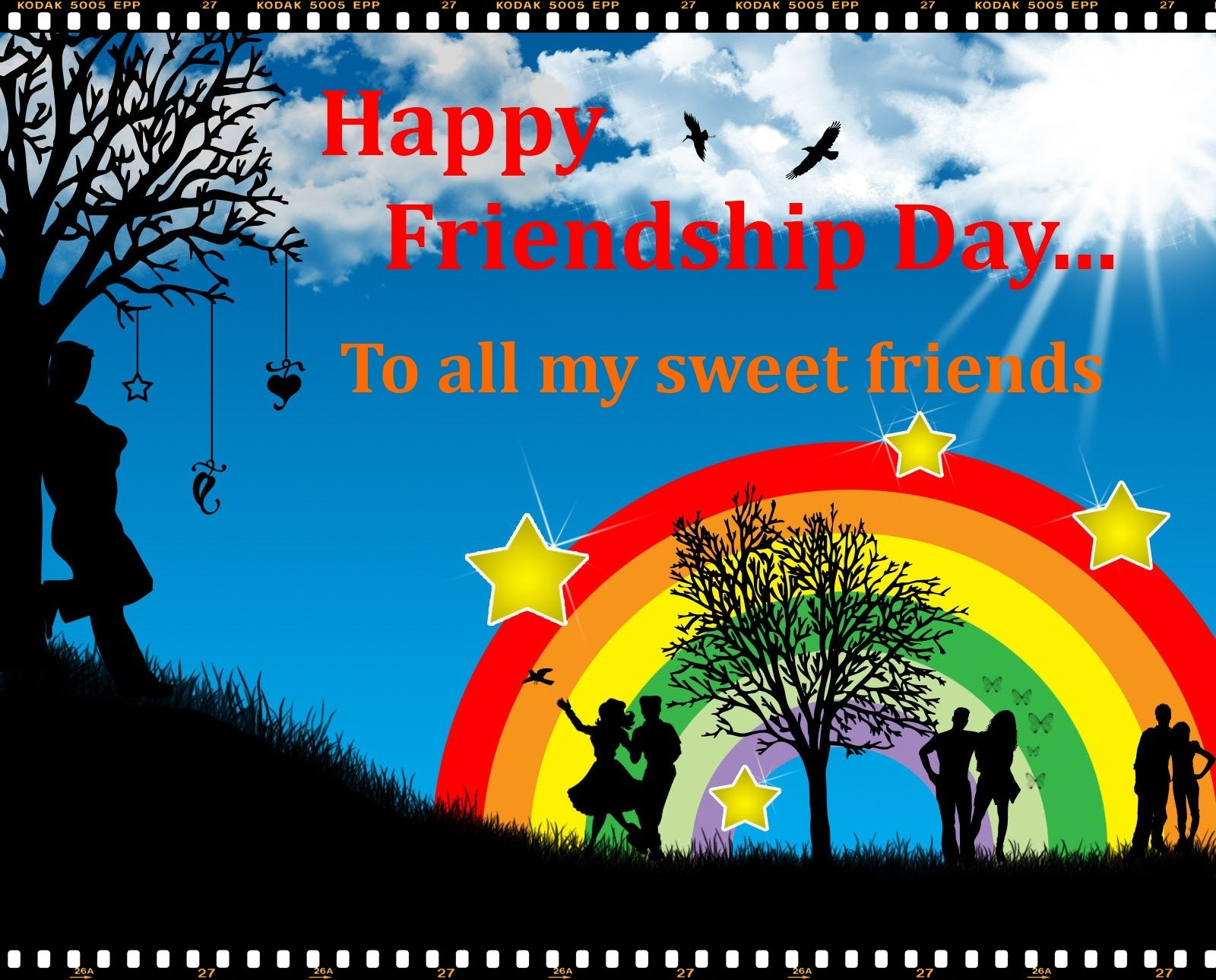 Friendships Wallpapers With Quotes Day Celebration Friendship Day Desktops Background