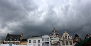 Clouds gather, threatening rain. They weren't faking either