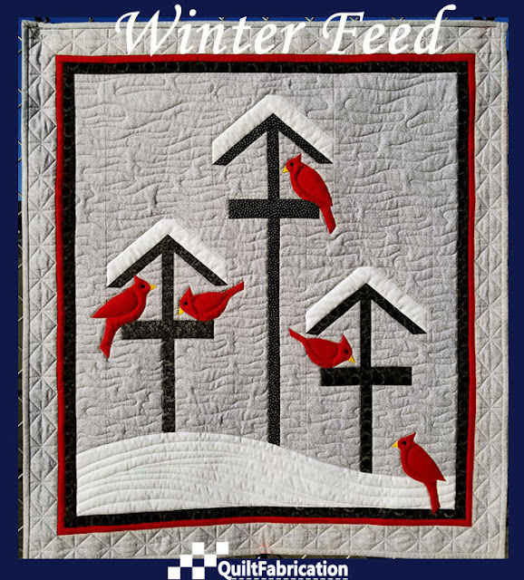 Winter Feed quilted wall hanging