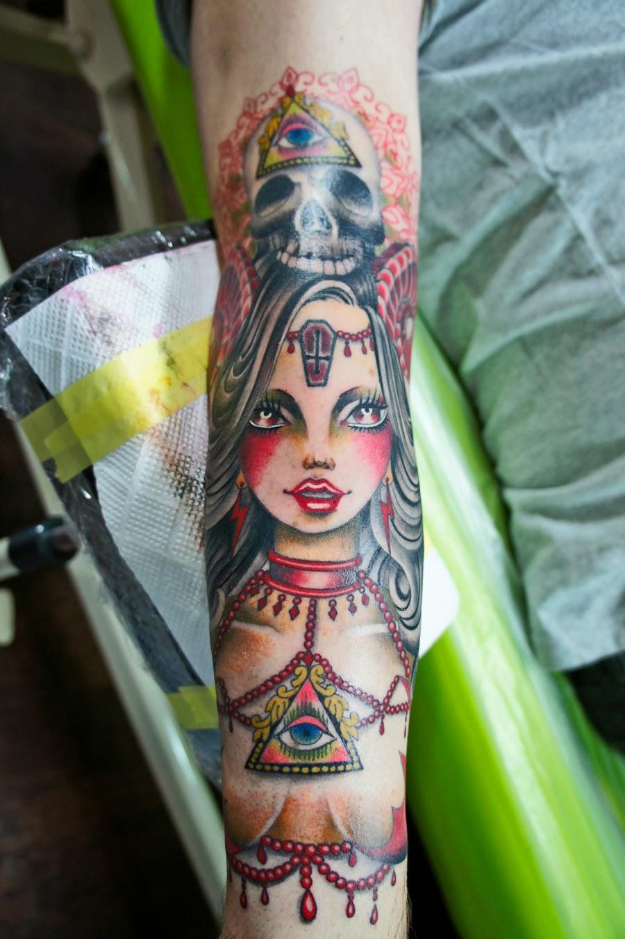 タトゥー pin up girl tattoo ピンナップガール devil Girl デビルガール
