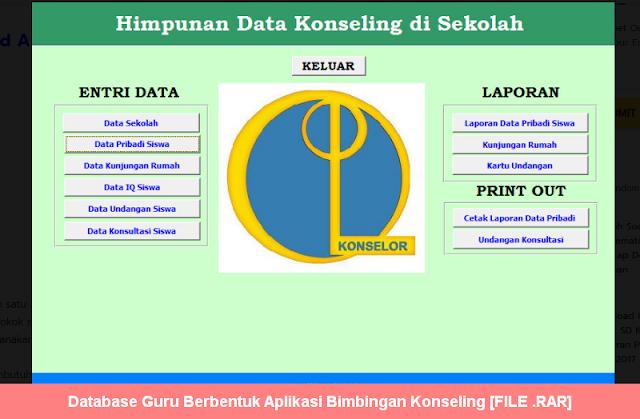 Database Guru Berbentuk Aplikasi Bimbingan Konseling [FILE .RAR]
