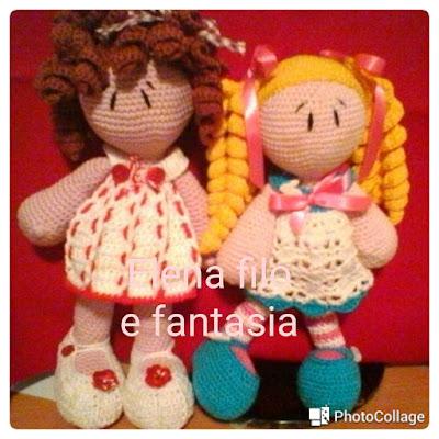 Elena Filo e Fantasia: Nuova bambolina amigurumi