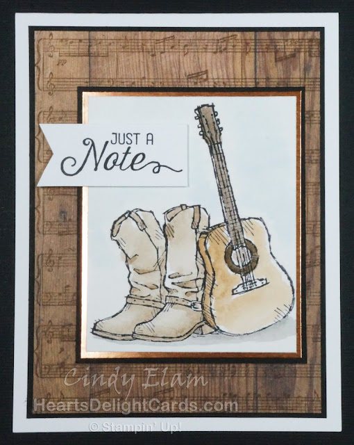Heart's Delight Cards, Country Livin', Just a Note, Stampin' Up!,