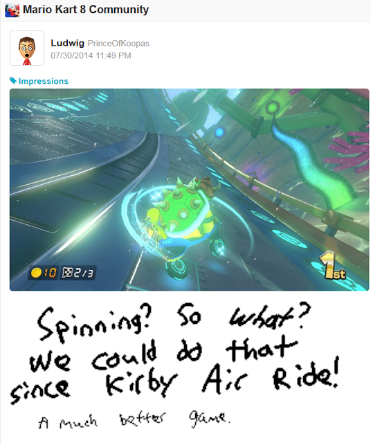 Mario Kart 8 Bowser anti-gravity spinning feature Kirby Air Ride