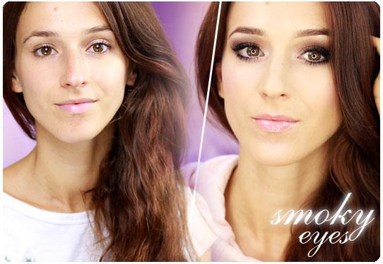 Alina Rose Blog Kosmetyczny Brązowe Smoky Eyes Dla Niebieskich Oczu
