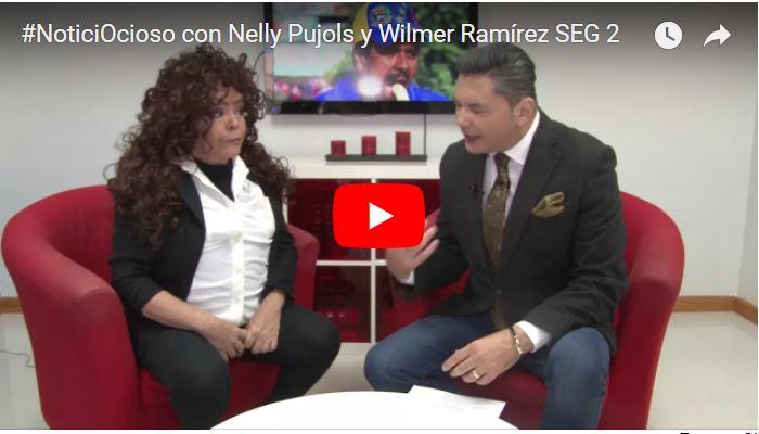 Nelly Pujols en el papel de Iris Varela en plena entrevista