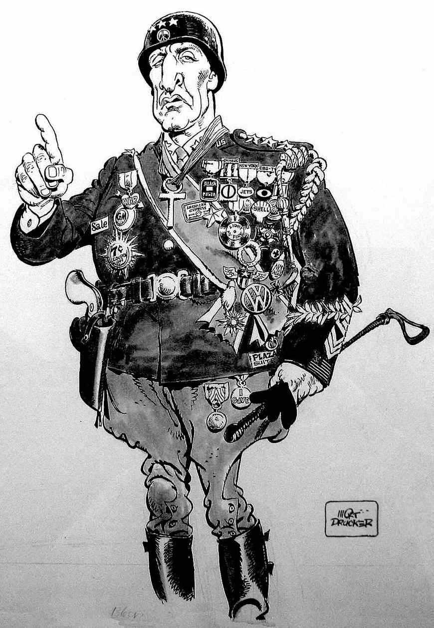 A cartoon of MAD magazine's General Patton by Mort Drucker