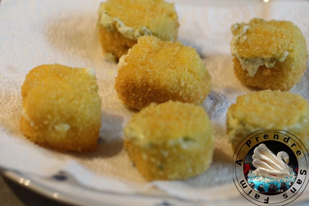 Lotte et Carré Frais en croûte de pain courgettes et vinaigrette à l'anchois (pas à pas en photos)