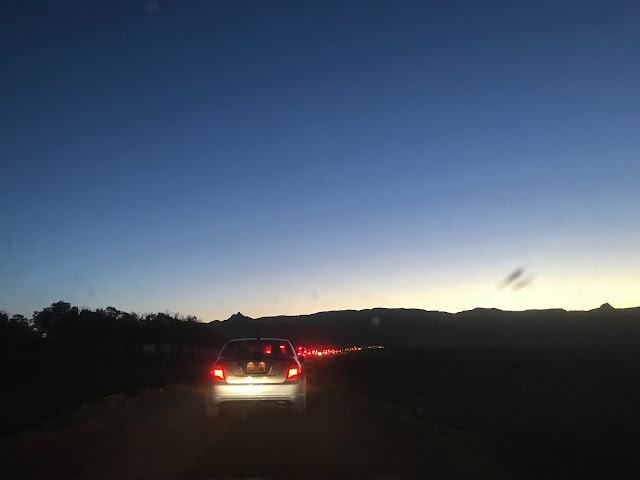 Traffic on way to Zion Half Marathon