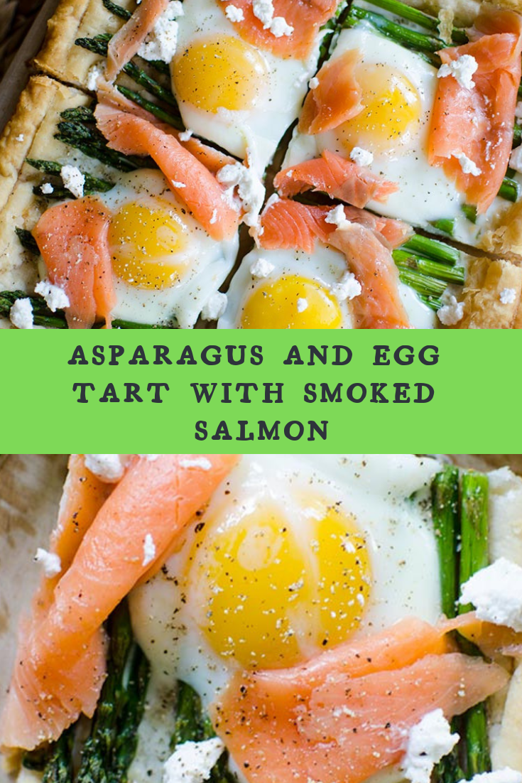 ASPARAGUS AND EGG TART WITH SMOKED SALMON RECIPE