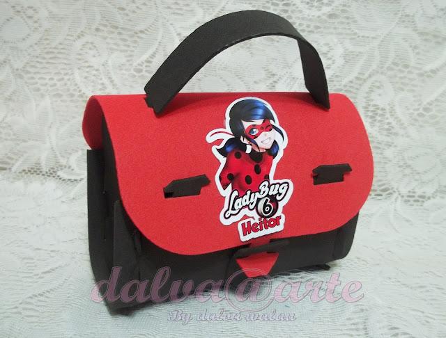 Lembrancinhas Miraculous LadyBug Bolsinha de EVA