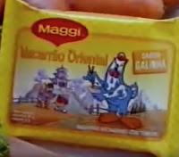 Campanha do famoso macarrão oriental da Maggi veiculada nos anos 90.