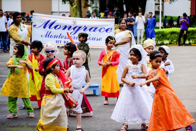 These little tots from Mongrace Montessori House won the heart of the audiences by their cheerful performances.