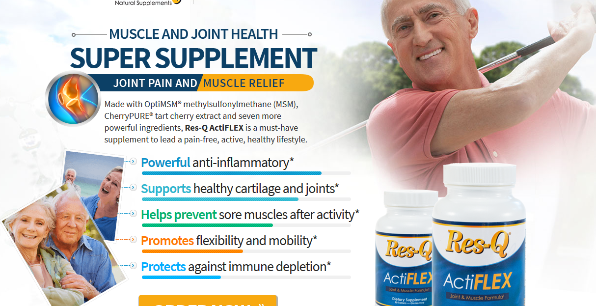 ResQ Actiflex US - Muscle and Joint Supplement