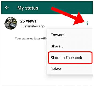 How To Share Whatsapp Status To Facebook Stories In Hindi