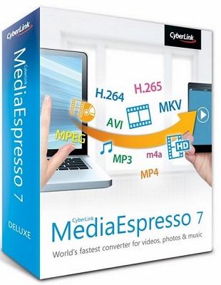CyberLink MediaEspresso Deluxe 7.5.8617.61825 poster box cover