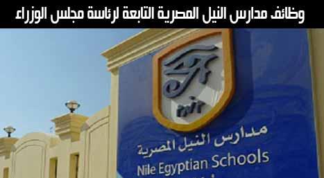 وظائف مدارس النيل الدولية لفروعها بالمحافظات