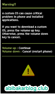 Warning Samsung Galaxy Odin