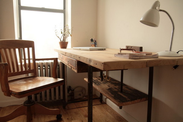 reclaimed wood home office furniture
