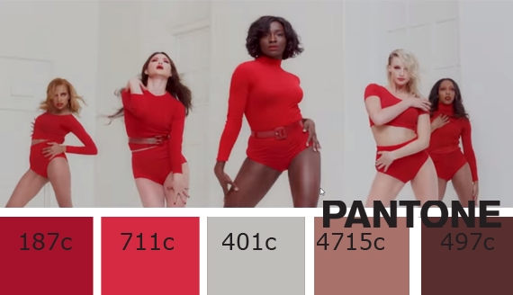 """Marilyn Monroe"", Pharrell Williams official video red color palette"