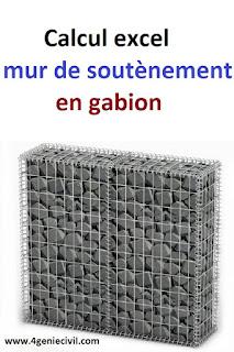 Note De Calcul De Mur De Soutènement En Gabion En Excel