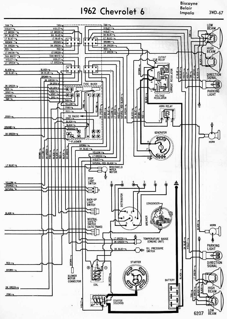 67 Bel Air Wiring Diagram Library Ls Furthermore 1955 Chevy On 55 Schematic 1962 Chevrolet 6 Electrical