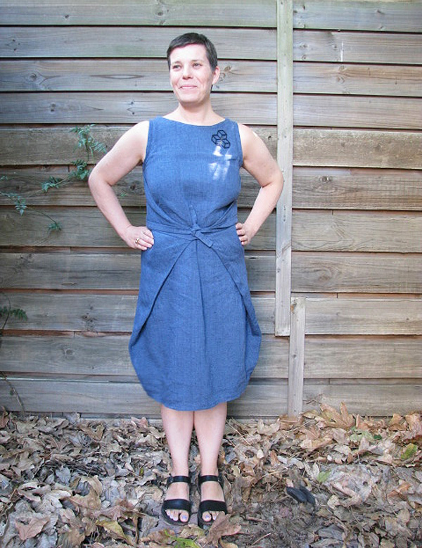 The Drapery Pattern Review Named Kielo Wrap Dress