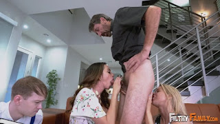 FilthyFamily Ariella Ferrera And Lilly Ford Squirter And Stepmom Worship A Cock