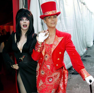 Elvira and Jamie Lee Curtis