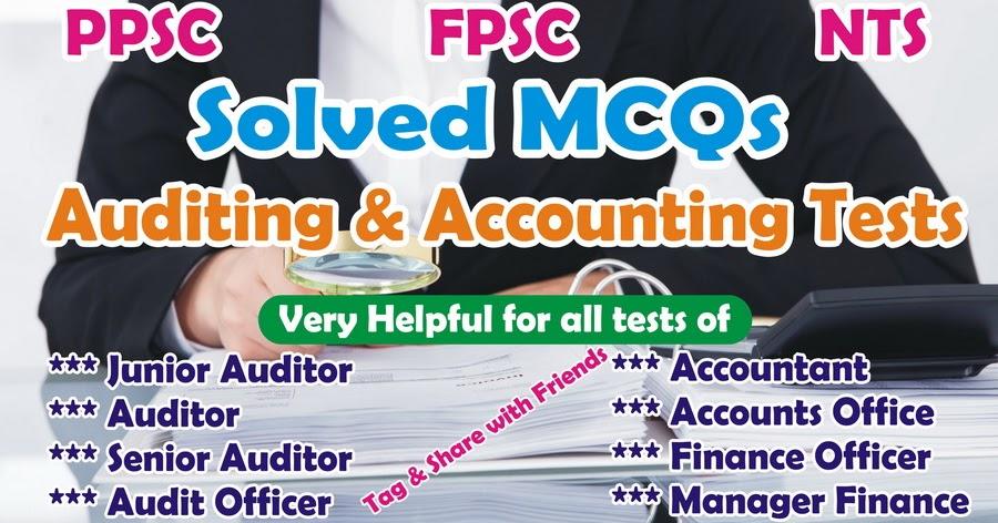 Download Solved Mcqs For Fpsc Senior Auditors Test Amp Ppsc
