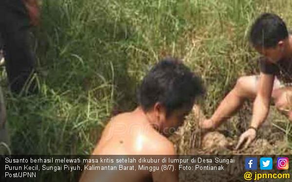 Susanto Dikubur Hidup-Hidup di Lumpur