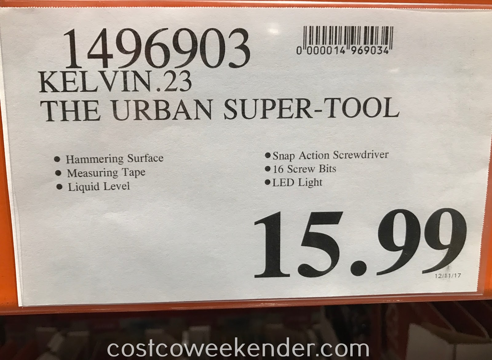 Deal for the Kelvin.23 Urban Super Tool at Costco