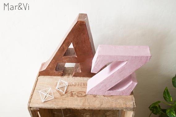 manualidad con cartón super fácil : letras decorativas