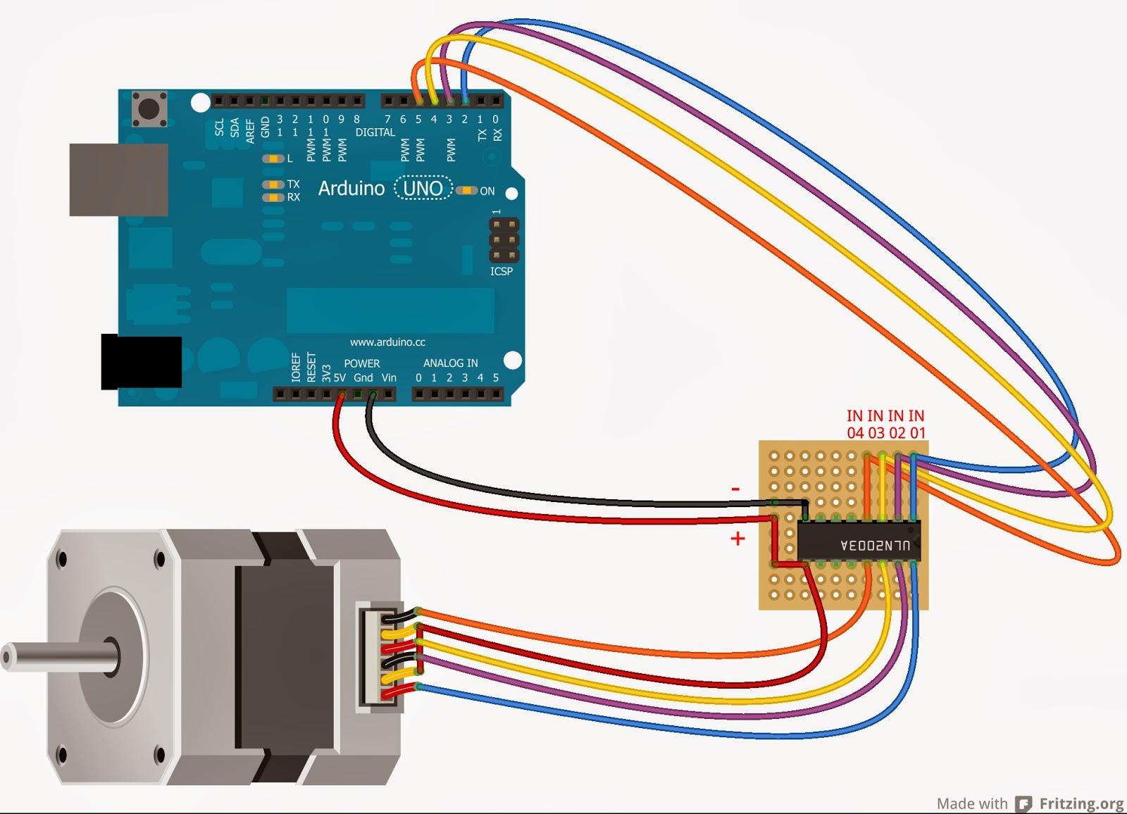 Schema Elettrico Per Motore Passo Passo : Daniele alberti arduino s collegare un piccolo
