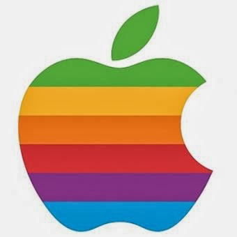 logo apple pelangi