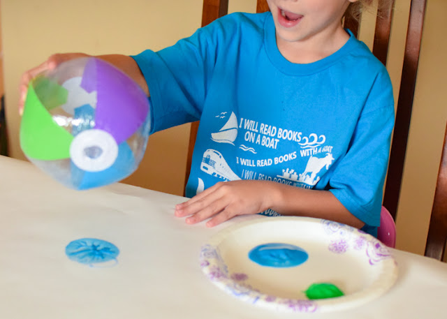 Beach Ball Painting- Fun and easy summer process art for kids. Perfect activity for preschool, kindergarten, or elementary.