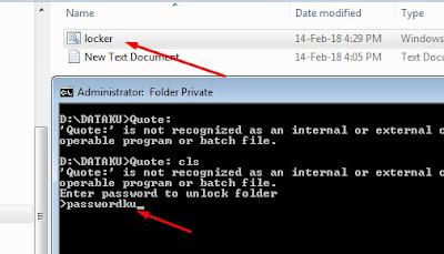 cara buka password folder